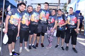 Rafael, Julio, César, Luis, Cecilia, Alan y Eduardo