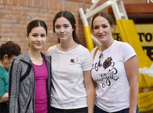Mariam, Ana Paula y Lorena