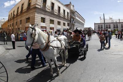 Hubo representaciones de distintos pasajes de la historia de México.