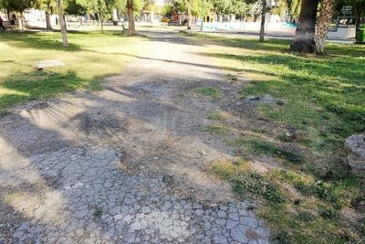 """Se observan algunos caminos en que el pavimento se """"desmorona"""" y requiere de trabajos para repararlos."""