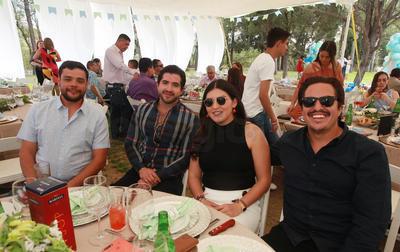 Jorge Luis Zamudio, Ana Franco, Javier Elizondo y Ricardo Ríos.