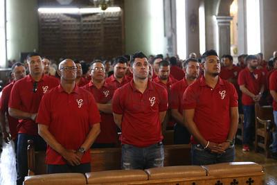 Se llevó a cabo la tradicional misa, donde los jugadores piden a Dios por una buena temporada, alejada de lesiones y que traiga buenos resultados y por fin la tan esperada postemporada.