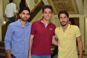 03042019 EN EL TIM.  Diego, Carlos y Javier.