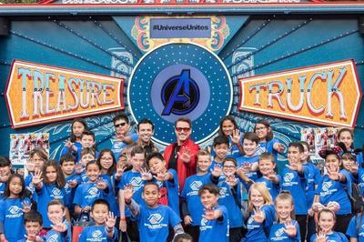 Los Vengadores estuvieron en Disney California con sus fans