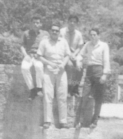 Gregorio Estrada, Gerardo Tovar, Federico Gómez y Jesús Reyes en los años 60'.