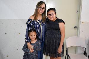 10042019 EN RECIENTE EVENTO.  Claudia, Angélica y Mariana.