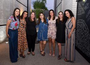 11042019 SERá MAMá EN MAYO.  Yuli Contreras de Sáenz acompañada de algunas de sus amigas en la fiesta de canastilla que le organizaron con motivo del nacimiento de su bebé.