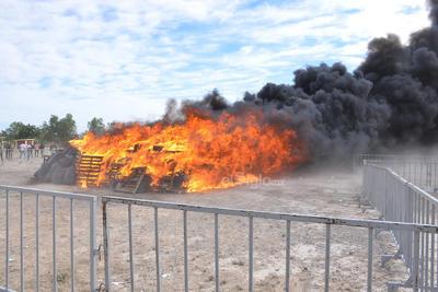 Se incineraron más de 10 toneladas de droga.