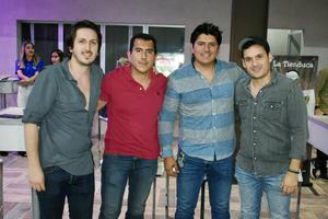 Marcelo, Oscar, Diego Armando y Eduardo