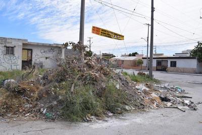 Tiradero de basura. En una esquina la empresa Pasa había colocado un contenedor de basura, pero lo retiraron y el lugar se sigue utilizando como deposito de basura y escombro, por los vecinos.