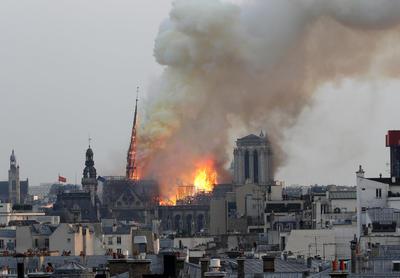 Así luce la catedral de Notre Dame.