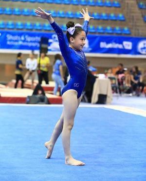 23042019 EXCELENTE DESEMPEñO.  Isabella Albeniz Castañeda participó en la competencia nacional de gimnasia realizada en Guadalajara, Jalisco.