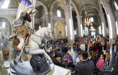 La historia marca que en el año de 1749 el obispo de Durango, Pedro Anselmo Sánchez de Tagle, nombró a San Jorge como Santo Patrono de la ciudad capital.