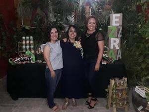 24042019 BABY SHOWER.  Martha Ríos con Lizeth y Ana Laura en su fiesta de canastilla.