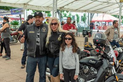 Los bikers también disfrutaron en familia.