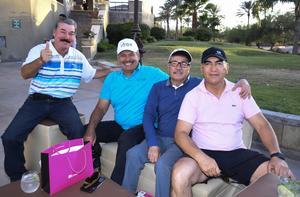 25042019 AMIGOS.  Fernando Larrañaga, J.J Hernández, Baltazar Ramírez e Ignacio Rodríguez.