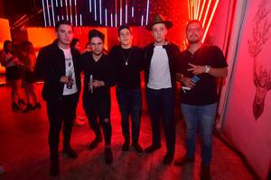 Emilio, Adrián, Bernardo, Hans y Pablo