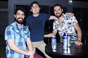 Gonzalo Pérez, Dante Núñez y Charly López
