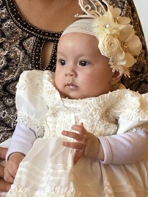 27042019 Renata Loredo Gazpar el día de su bautizo.