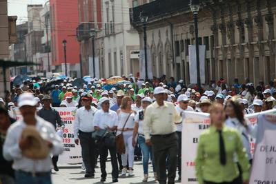 Marcha del 1 de mayo en Durango