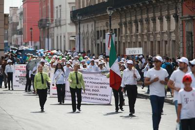 La marcha se realizó en orden y no se vio la participación de los candidatos como otros años.
