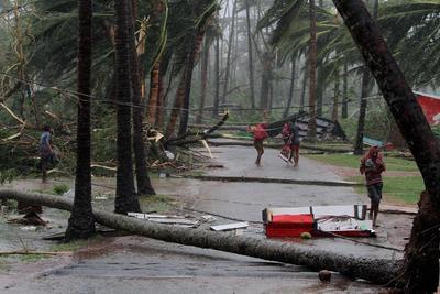 El ciclón Fani se ha debilitado, pero dejó serias afectaciones.