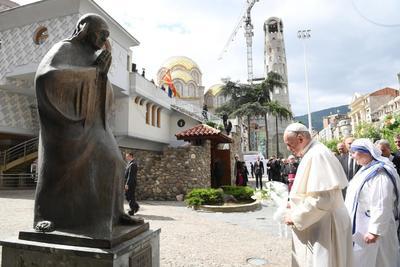 El Papa Francisco visitó Macedonia del Norte.
