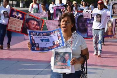 Madres de desaparecidos marcharon en Torreón.