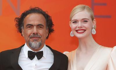 El presidente del jurado, el director mexicano Alejandro González Inarritu y la actriz estadounidense Elle Fanning.