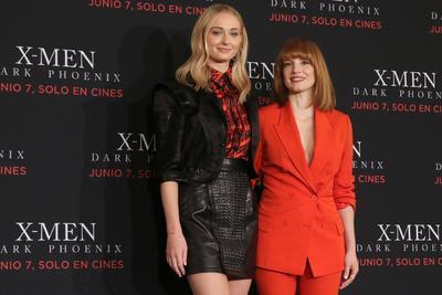 Turner y Chastain promocionan nueva cinta de X-Men en México