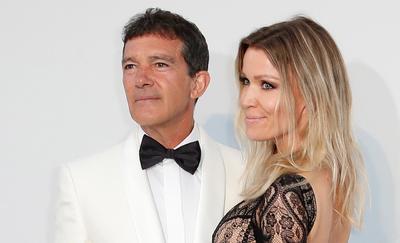 El actor español Antonio Banderas y su pareja, la alemana Nicole Kimpel.