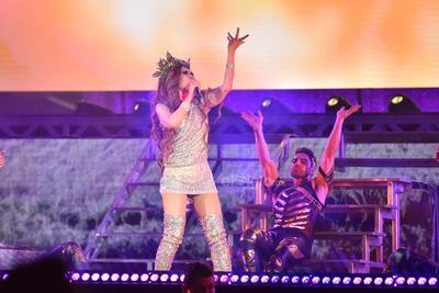 Gloria Trevi dejó para la parte final del show sus clásicos. Se retiró del escenario con la promesa de volver pronto.