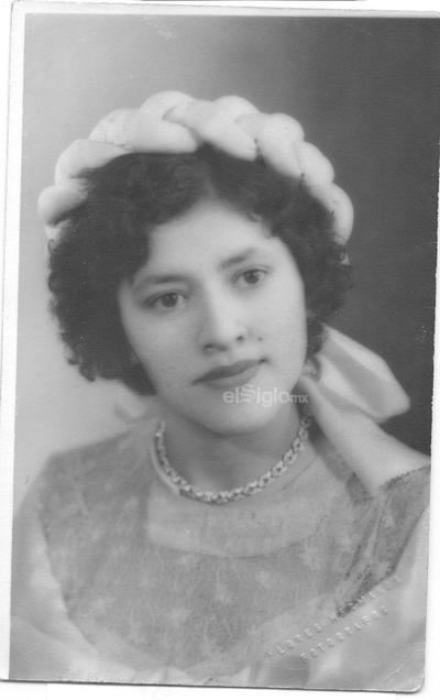 Carmela Gutiérrez Alanís. Ej. San Ignacio. San Pedro, Coahuila, 1952.