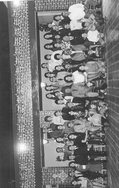 De las primeras familias laguneras, 1910. José A. García, 1972, 80 años. Homero, Jaime, Celia, Eduardo, Ana, José Eduardo, Claudio, Bertha Alicia, Javier, Lucila, Ricardo, Sergio, Silvia, Ernesto y Leticia.
