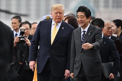 Lo acompañó en su estancia el primer ministro japonés, Shinzo Abe.