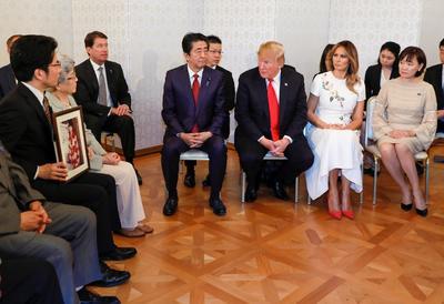 Se reunió con familiares de secuestrados por el régimen norcoreano.
