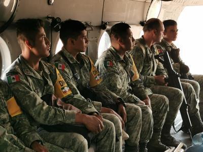 Elementos del Ejército Mexicano, la Comisión Nacional Forestal y la Secretaría de la Defensa Nacional permanecen en la zona.