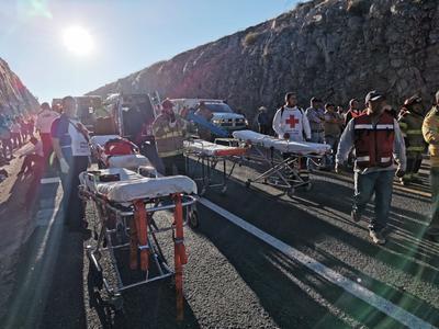 El percance ocurrió a la altura del kilómetro 33 de la supercarretera Durango-Mazatlán.