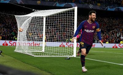 Messi marcó doblete.