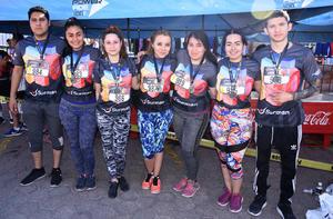 02052019 PARTICIPAN EN CARRERA.  Luis, Eli, Salma, Karla, Yessica, Marcela y Daniel.