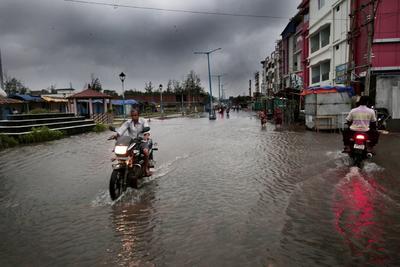 Generó inundaciones.