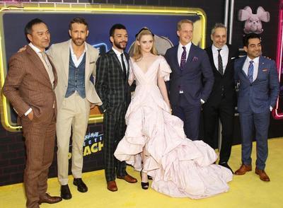 El actor Ryan Reynolds y el Detective Pikachu tomaron este jueves Times Square en Nueva York para el estreno de la primera película 'live-action' del ratón amarillo, 'Detective Pikachu', cuyo estreno mundial está previsto para el 10 de mayo.