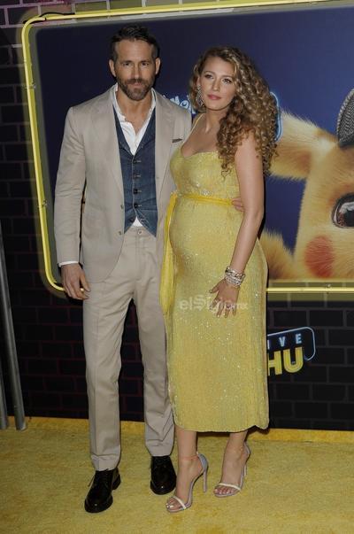 El actor Ryan Reynolds  y su esposa la actriz Blake Lively