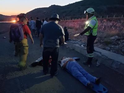 Las lesiones de las personas que resultaron lastimadas no son de gravedad.