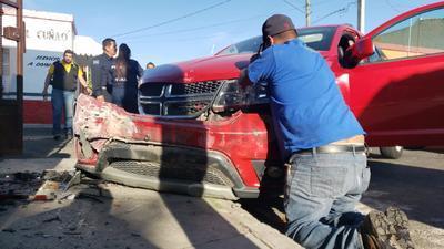 El accidente resultó ser aparatoso.