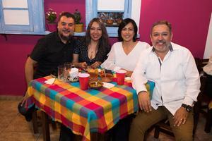 06052019 Alfredo Méndez, Adriana Villarreal, Diana Morón y Ulises Hernández.