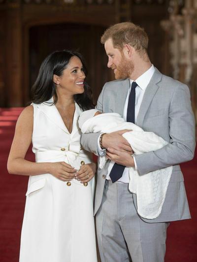 Meghan dijo que el bébé 'es mágico, es bastante sorprendente'.