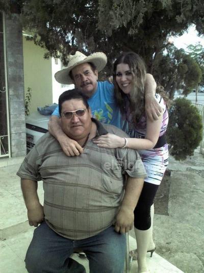 César, Rubén y Thelma.