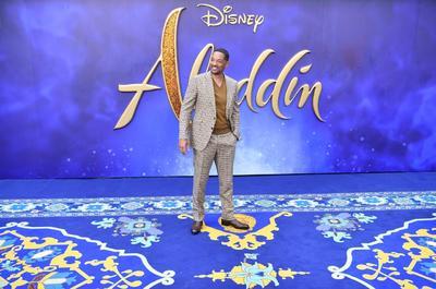 Will Smith, quien interpreta el papel del Genio de la lampara maravillosa.