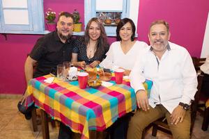Alfredo Méndez, Adriana Villarreal, Diana Morón y Ulises Hernández